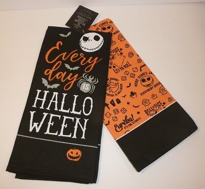 Day Before Halloween (Nightmare Before Christmas Dish Towels Set of 2 Every Day Is Halloween Orange)