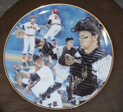 1992 GARTLAN USA CARLTON FISK RED WHITE SOX AUTOGRAPHED PLATE AUTO SIGNED /950 Carlton Fisk Plate