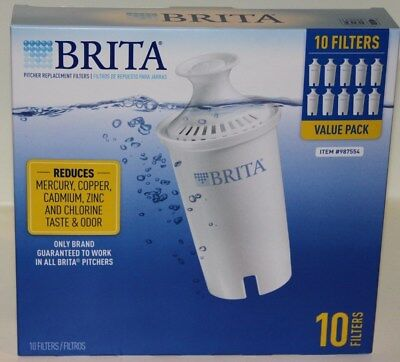 Brita Replacement Water Filters 10 Cram Pitcher Filters