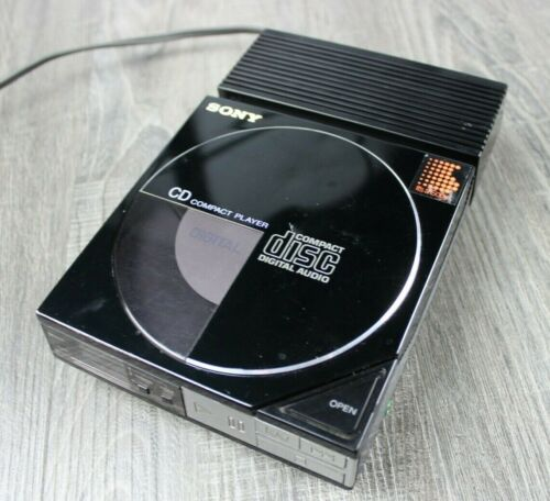 Vintage Sony D-50 CD Compact Disc Player With AC Adaptor AC-D50 Tested Working