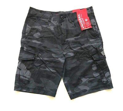 NWT Unionbay Men's Lightweight Cargo Shorts Black Camo, Size 42