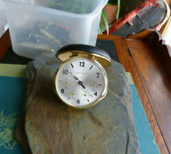 Vintage Westclox Travel Alarm Clock World Time Date