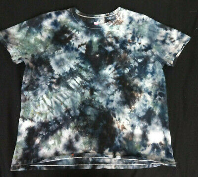 Hanes Her Way Crystal Tie Dye T Shirt Large Black Grays BOHO](Tie Dye Room)