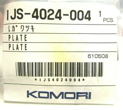 New Genuine Oem Komori Plate Ijs-4024-004 Printing Part Offset Printer 610508