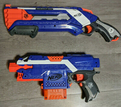 Nerf N-Strike Elite Blue Stryfe & Rough Cut Dart Gun Blaster Lot
