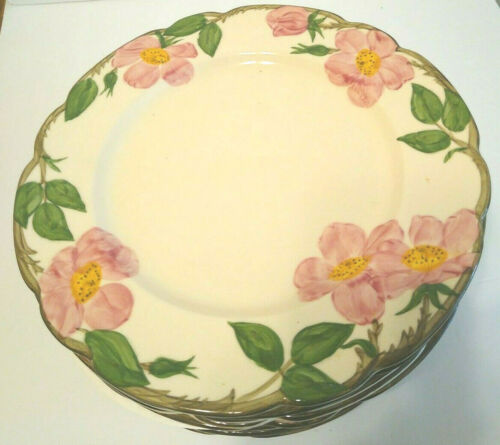 """Franciscan Ware Dinner Plate Desert Rose 10 1/2"""" Hand Decorated USA"""