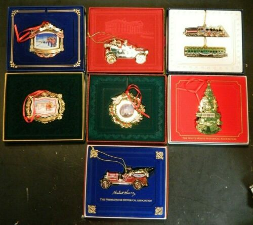 Lot Of (7) White House Historical Association Christmas Ornaments 2010-2016 EXC