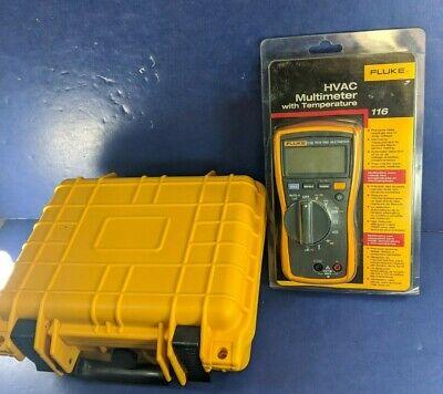 New Fluke 116 Trms Multimeter Original Packaging Hard Case