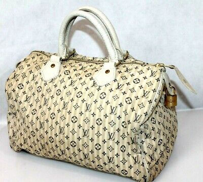 Louis Vuitton Women's  handbags speedy Brown SP4017 Cloth satchel Authentic LV