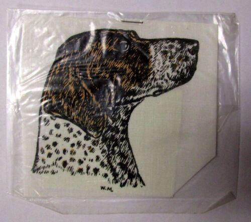 Vintage NOS GERMAN WIREHAIRED POINTER Car Sticker Decals Walnut Miniatures dog