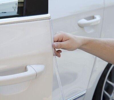 2 x Sumex Car Door Edge Guard Protector Trim (U Shape) 650mm - CLEAR Transparent