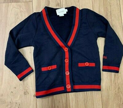 Gucci kids unisex cotton Cardigan jacket or boy/girls Size 7/8 years