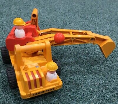 VINTAGE FISHER PRICE SHOVEL DIGGER TRUCK # 301 2 People