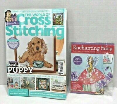 The World of Cross Stitching Magazine with mini stitch kit