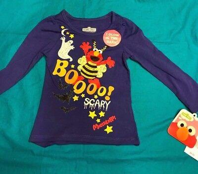Girls Elmo Sesame Street Halloween T-Shirt Blue NEW! 12M, 18M, 2T, 3T, 4T, 5T](M Street Halloween)
