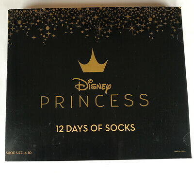 12 Days Of Socks Disney Princess Advent Calendar Socks Crew No Show Quarter New