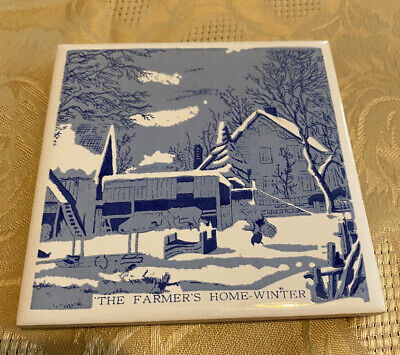 """Hoover Square Tile ~ The Farmer's Home-Winter ~ 4 1/4"""" x 4 1/4"""""""
