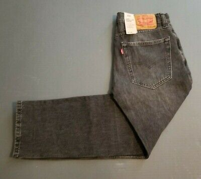 Levi's 502 Regular Taper Black Gray Charcoal Stretch Jeans Size 30x30 Mens NEW