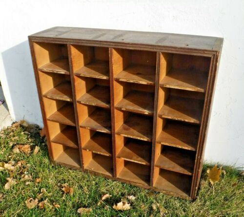 Antique~Wooden~General Store~Clothing~20 Cubicle~Counter Shelf Storage Display
