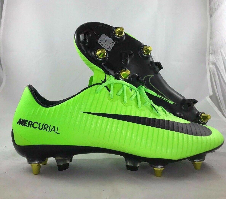 Details zu Nike Mercurial Vapor Xi Sgpro Ac Acc Grün Schwarz Fußball Stollen 889287 308