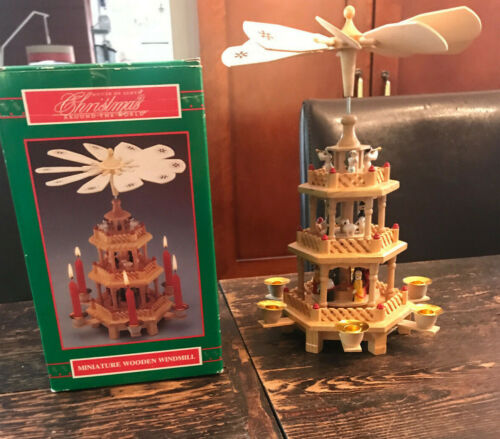 House of Lloyd Christmas Around the World Miniature Wooden Windmill Candle Spin