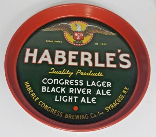 Vintage Congress Haberles Beer Tray Syracuse NY Black River Ale