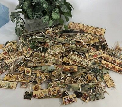 Handmade Rigid Tags Americana Ornaments, Labels, Country, Gift Tags, Christmas