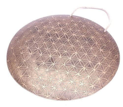 Flower of life carved gong-18 inches Tibetan gong-master quality handmade gong