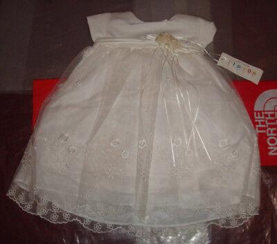 New Baby Girls Christening Baptism Wedding Dress Gown Flower Girl 18M Bautizo