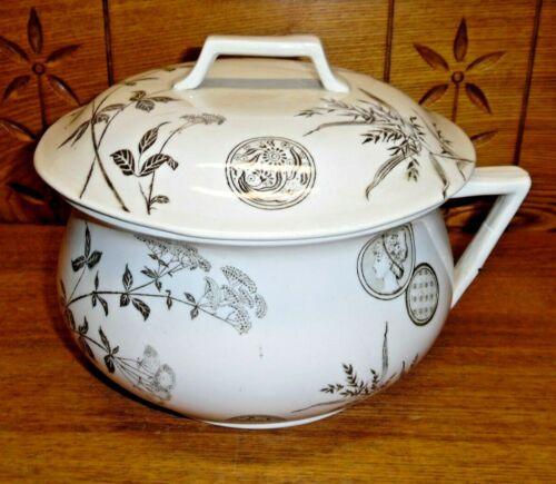 Antique Aesthetic G.W. Turner & Sons Transferware Chamber Pot