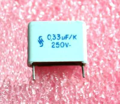 Siemens 0.33uf 250vdc Polyester Capacitor - Lot Of 10 28p282
