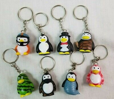 STAR AWARDS March of the PENGUIN LOT (8) Keychain Charms Collection 1.5