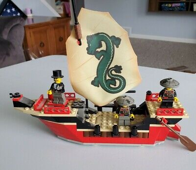 Lego 7416 Adventurers Orient Expedition EMPEROR'S SHIP Complete Vintage 2003