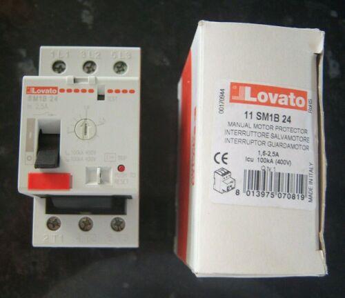 LOVATO ELECTRIC 11SM1B24 Motor breaker ; 220÷690VAC; DIN; 1.6÷2.5A