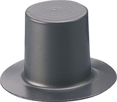4 Zylinder matt 40mm 4er Set schwarzer Hut