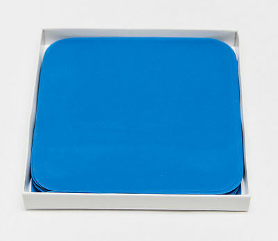 New Dental Dam Med. Blue 6 X 6 Natural Latex Rubber Sold By The Sheet Bagged