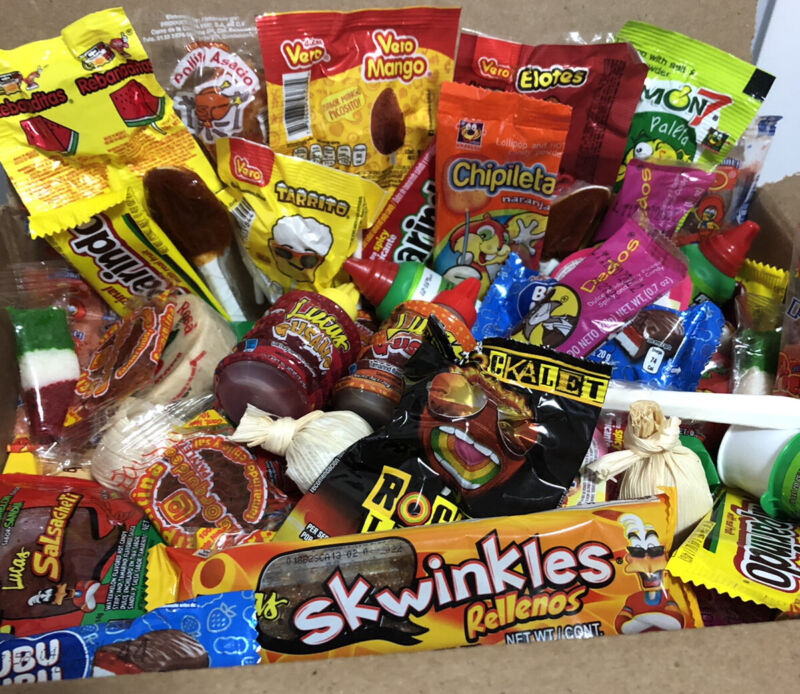 Mexican Candy Mix Box 100 Pieces Lollipops & Candy Variety Mix Guaranteed Fresh