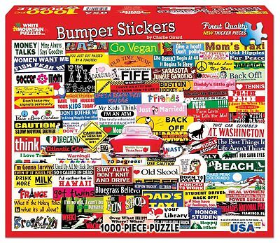 White Mountain Jigsaw Puzzles Puzzles Bumper Stickers 1000 Piece Jigsaw Puzzle