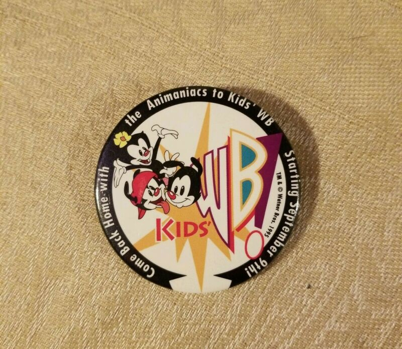 Kids WB Animaniacs Promo Button Pin Warner Bros Studio Store Employee Buttons