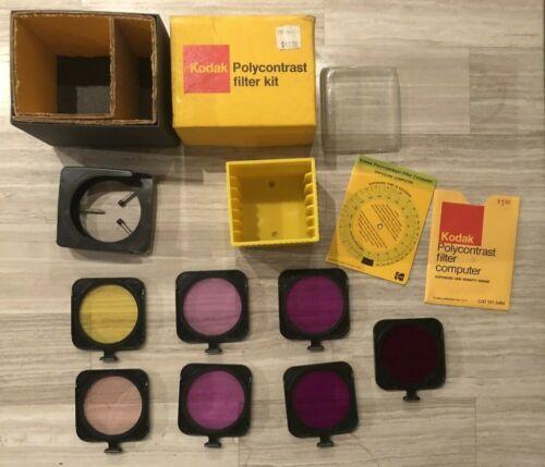 Kodak Polycontrast Enlarger Filter Kit Model A & Filter Computer Wheel