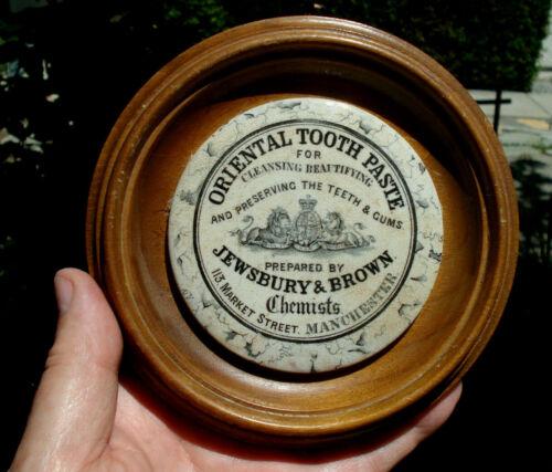 Displays FAR better when hanging!.superb antique ORIGINAL Lg Manchester pot lid!
