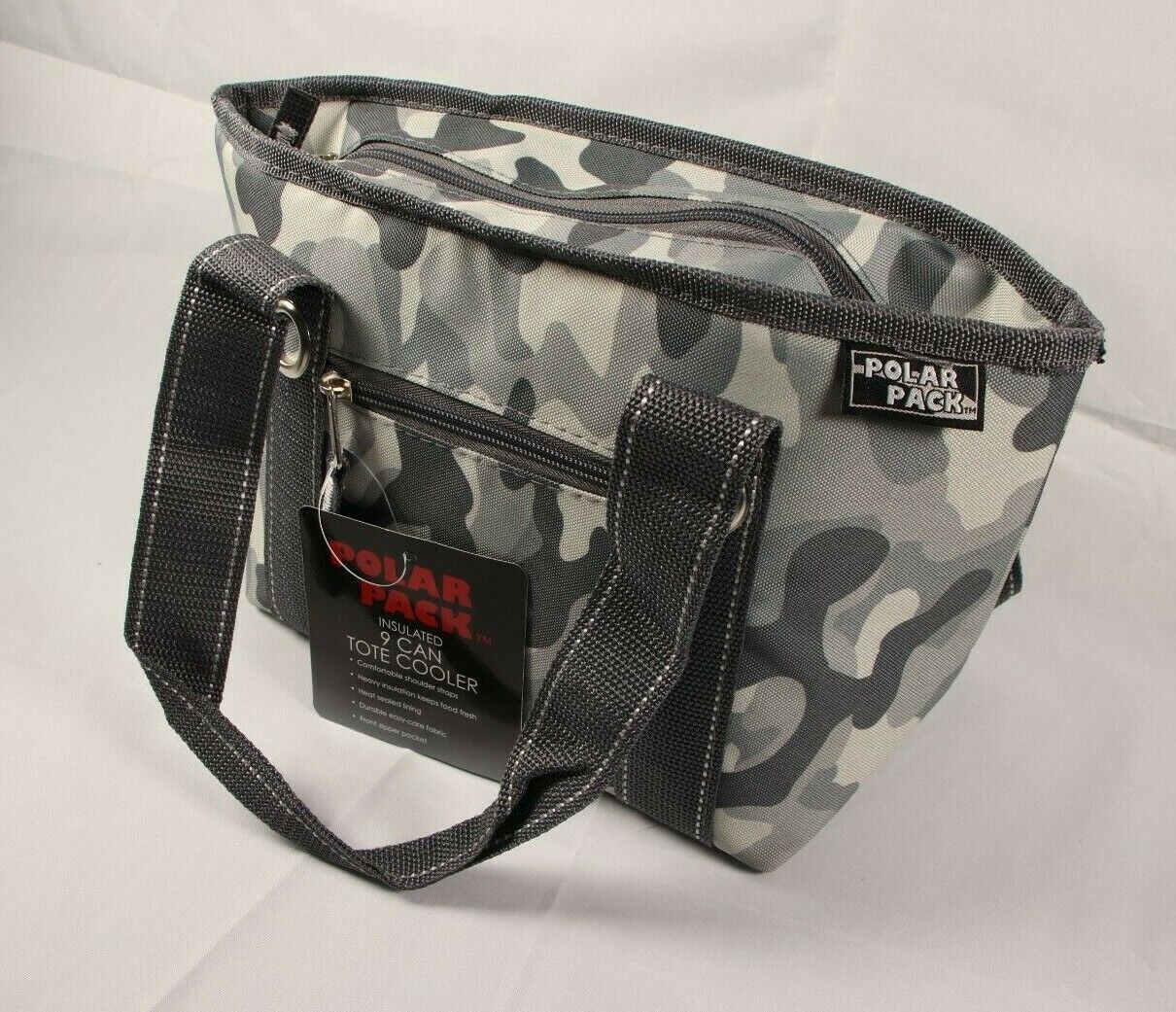 insulated 9 can cooler tote lunch bag