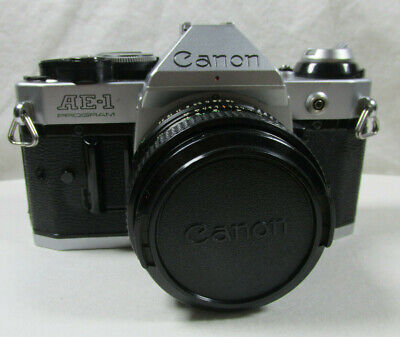 Canon AE-1 Program Camera - With 50mm f1.8 Lens - With Bag Case - 35mm VTG