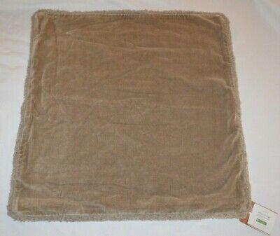 Pottery Barn Velvet Fringe Mocha Pillow Cover NEW 22