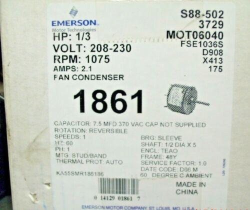 Emerson 1/3 FAN Condenser MOT06040