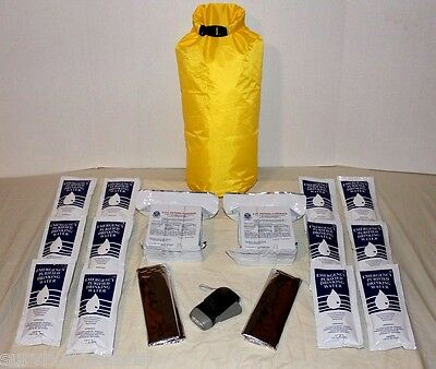 6 Day Zombie Survival Kit Bag Sack Water Food Light Blanket Emergency 2 People