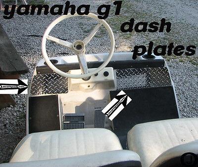Yamaha G1 Golf Cart Highly Polished Aluminum Diamond Plate Dash Cover (Diamond Plate Dash)