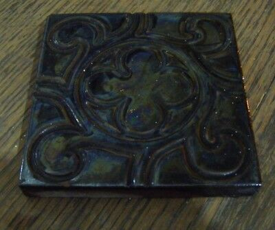 Reclaimed Victorian Antique Craven Dunnill & Co.  Floor Tile 10.5cm x 10.5cm *