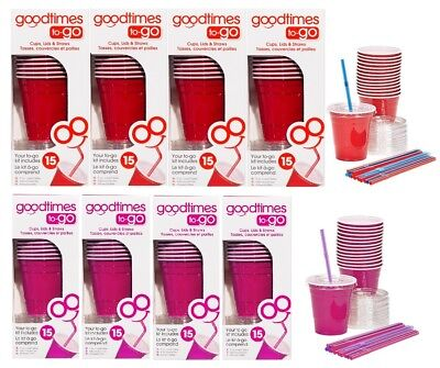 9oz To Cups (Goodtimes 9oz Kids Cups To-Go Kits With Lids And Straws-Pick Color! (4)