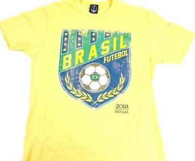 Brasil Soccer Shirt Brasil Futebol Shirt FIFA World Cup Soccer 2018 Russia tee M image